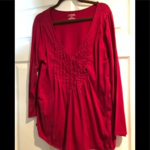 Lane Bryant red button down dress blouse 18/20
